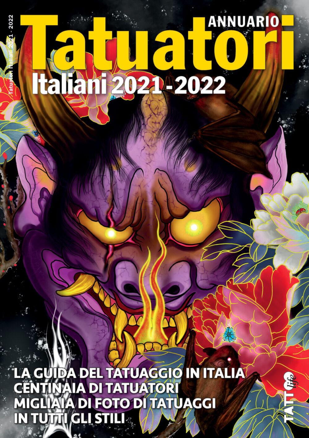 Copertina Annuario Tatuatori Italiani 2021-2022 by Tattoo by Noa Palmisano, @noapalmisano_ink