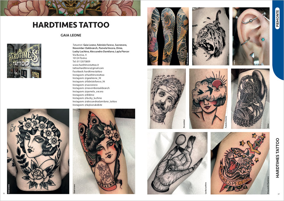 Esempio impaginato Annuario Tatuatori Italiani
